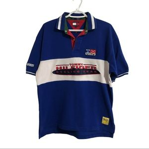 Tommy Hilfiger Cycling Gear embroidered polo.